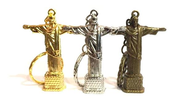 60 Chaveiros Metal Cristo Redentor Rio De Janeiro