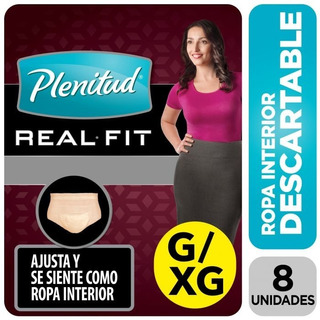 Plenitud Real Fit Ropa Interior Mujer X8 Talle G/xg 10unids