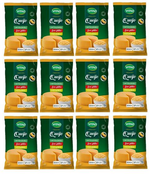 Kit Com 12 Snacks Vegano De Queijo 60g Cada