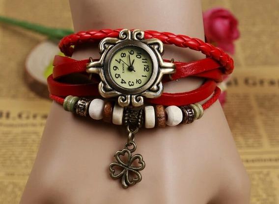 Relógio Feminino De Pulso Vermelho Linda