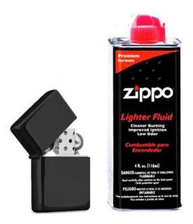 Kit Gasolina Zippo + Encendedor De Mecha