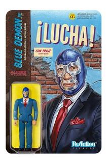 Super 7 Lucha Libre Blue Demon Jr. Con Traje ( In Suit )