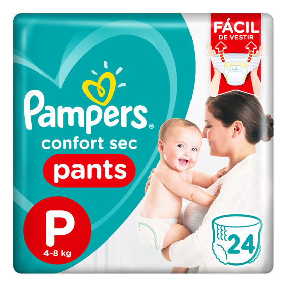 Pañales Pampers Confort Sec Pants Talle P X 24 Unidades