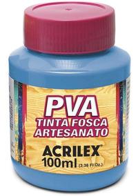Kit 18 Potes Tinta Pva Fosca Para Artesanato Acrilex 100ml