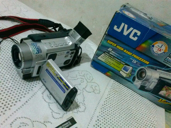 Câmera Jvc Mini Dv Completa Na Caixa Original (não Funciona)