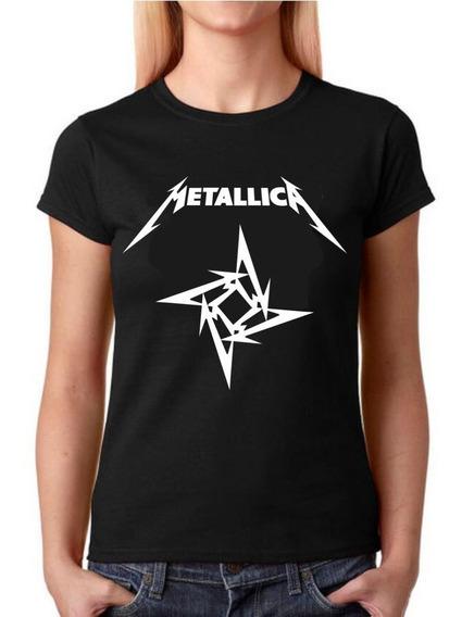Camisa Baby Look Feminina Rock - Metallica - 100% Algodão!!