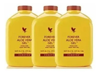 3 Sucos Aloe Vera Gel Babosa Natural + 1 Energético