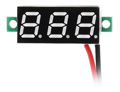 Mini Voltimetro Digital Dc 4-30v - Medidor Bateria Carro Som