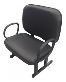 Poltrona Cadeira Obeso Reforçada Recepção Escritorio 250kg