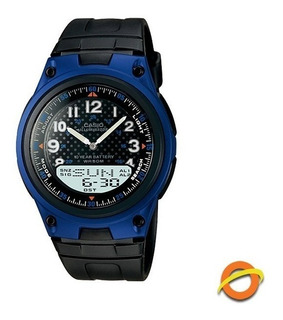 Reloj Casio Aw-80 Wr50 Analogico Y Digital Cronometro Led