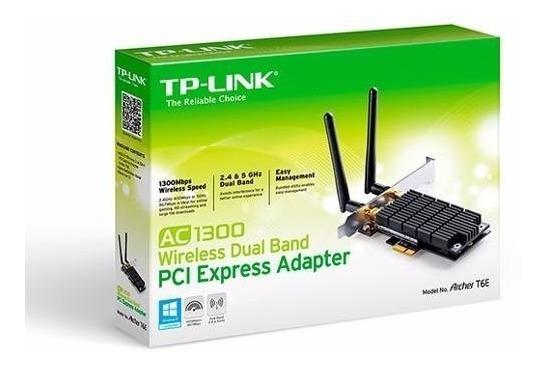 Adaptador Interno Pci Tp-link Archer T6e Ac1300 Dual + Nota