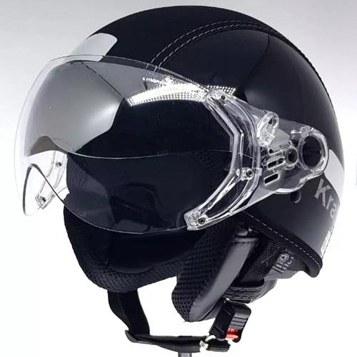 Capacete Aberto Kraft Semi Preto Custom Harley Drag Shadow
