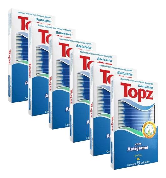 Cotonetes Topz Bastonetes Hastes Flexíveis Combo6