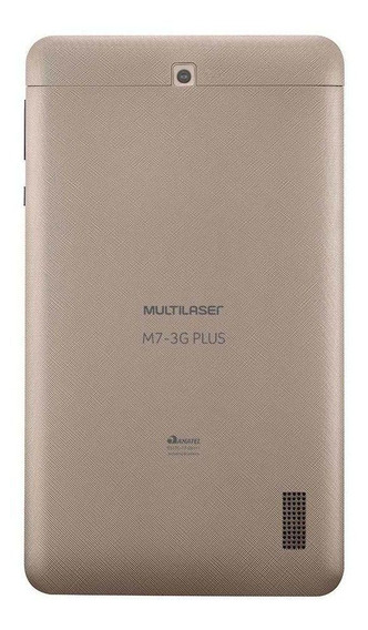 """Tablet Multilaser M7 3G Plus NB30 7"""" 16GB dourado com memória RAM 1GB"""