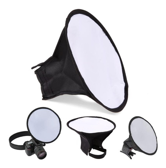 Mini Difusor De Flash Circular Softbox 20cm Dobrável + Bolsa