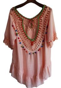 Vestido Saida De Praia Piscina Verão Canga Blusa Boho 2804