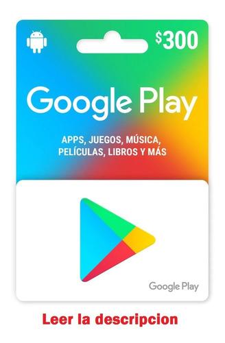 Imagen 1 de 2 de Tarjeta Google Play 300