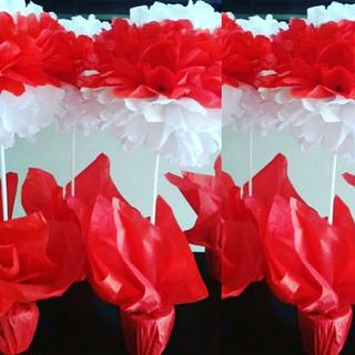 10 Flores De Seda En Maceta Pintada Tu Eventos Listos!