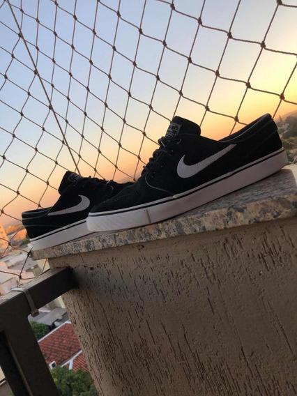 Tênis Nike Janonski Og Preto Camurça Original