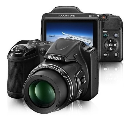 Câmera Digital Nikon Coolpix L820 Preta