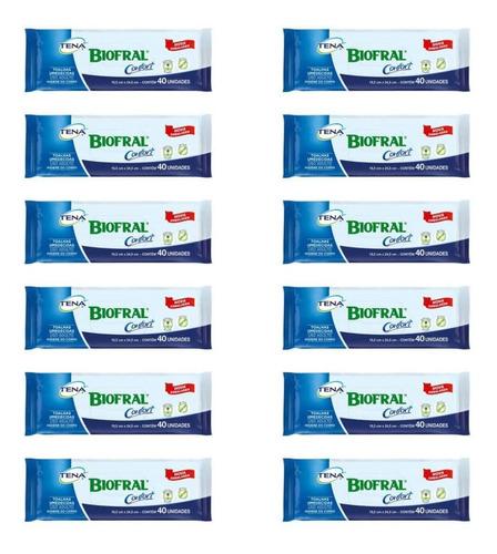 Tena Biofral Toalhas Umedecidas Adulto C/40 (kit C/12)
