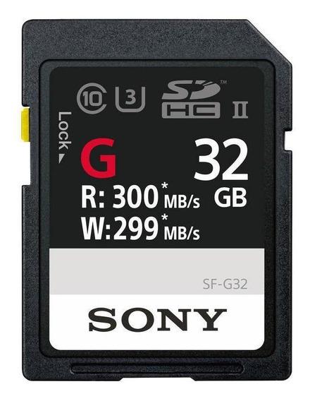Cartão Sdxc 32gb Sony Uhs-ii U3 Série G 300mb/s (classe10)