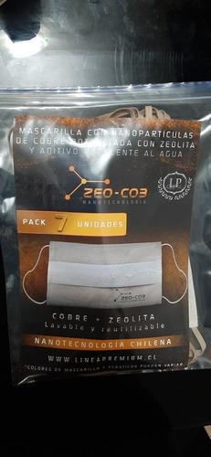 Pack 7 Mascarillas Nanopartículas Cobre+zeolita Envío Gratis