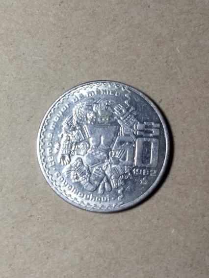 Moneda Antigua De $50 Pesos Coyolxauhqui Niquel (paq 2 Pzas)