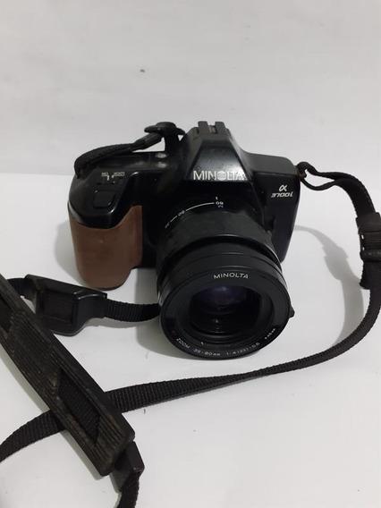 Câmera Minolta 37-00l Sem Bateria, Detalhe No Visor