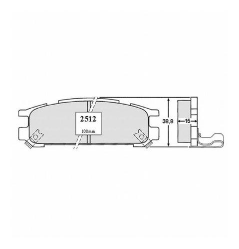 Pastillas Freno Subaru Legacy 1.8 1993 Motor Ej18 Inyección