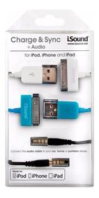 Kit Com Cabo Para Tablet E Smartphones Apple Carga E Áudio