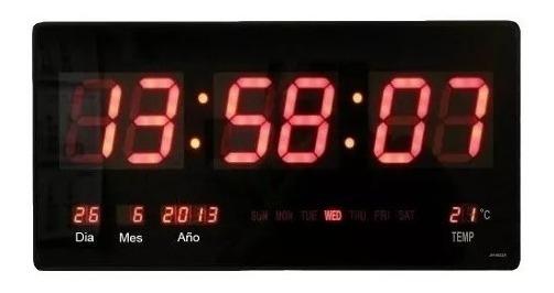 Reloj Digital Pared Led Fecha Temperatura 34102