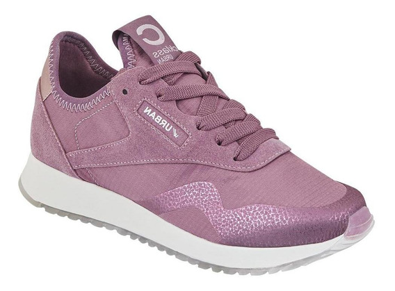 Tenis Sneakers Mujer En Tela Monocolor Palo De Rosa Cklass