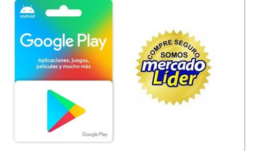 Tarjeta De Regalo Y/o Saldo Google Play $ 100