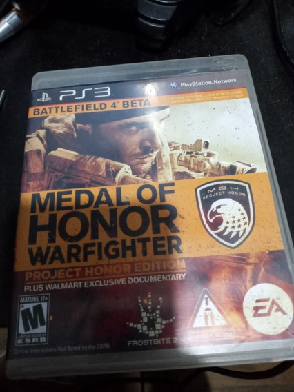 Medal Of Honor Warfighter Project Honor Edition Ps3 Leia