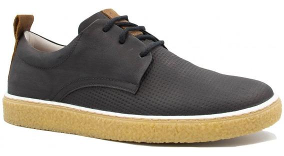 Sapatênis Zariff Shoes Casual Em Couro Solado Crepe Mw33011
