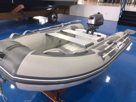 Bote Hidea 2.40 + Motor 5 Hp Hidea 2 T