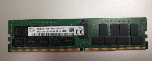 Memória 32gb Pc4-23400 2933 Mhz Hma84gr7jjr4n Dl380 G10 R740