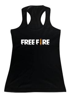 Musculosa Free Fire Logo M