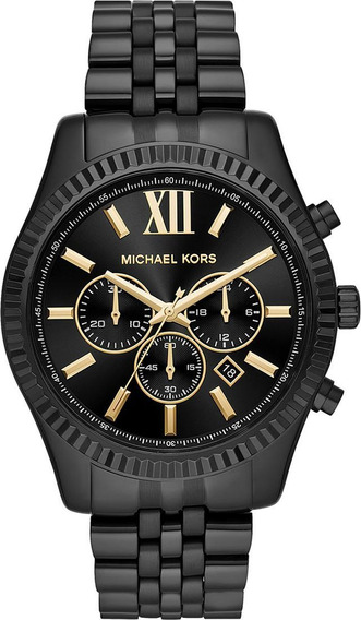 Relógio Michael Kors Mk8603 Lexington Orig Chron Anal Black