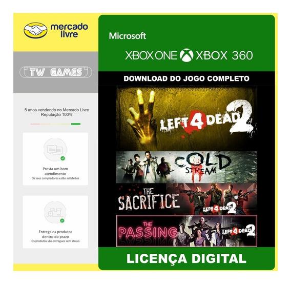L4d2 Left 4 Dead 2 + 3 Dlcs Digital Retro Xbox One Xbox 360