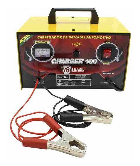 Carregador Bateria Automotiva Até 100 Amperes / Bivolt