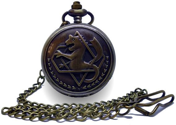 Reloj Hombre Mujer De Bolsillo Alquimista Alchemist Color Br