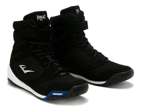 Zapatillas Para Boxeo Corte Alto Negro - Everlast