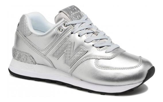 zapatillas new balance plateadas mujer