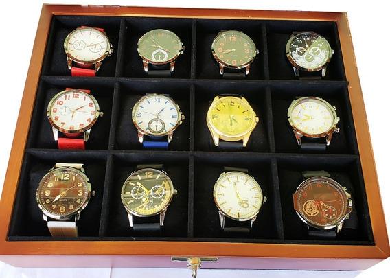 Kit Relógio Masculino Barato Lote C/10pcs Atacado P/ Revend