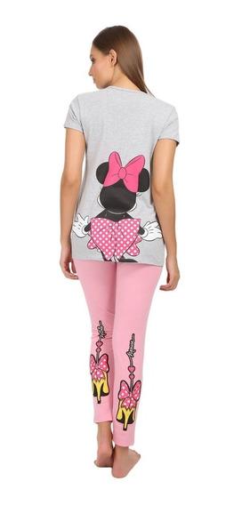 Pijama Dama Minnie Mouse Disney Pantalon Blusa 9214