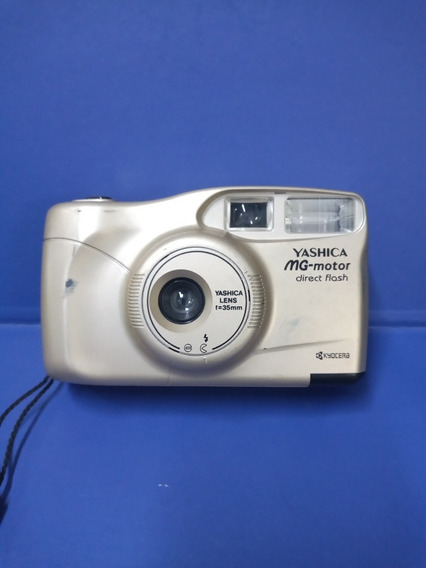 Camera Fotográfica Yashica Mg- Motor Funcionando Tudo