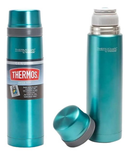 Termo Doble Acero Inoxidable 1 Litro Thermos Tapon Flat Top