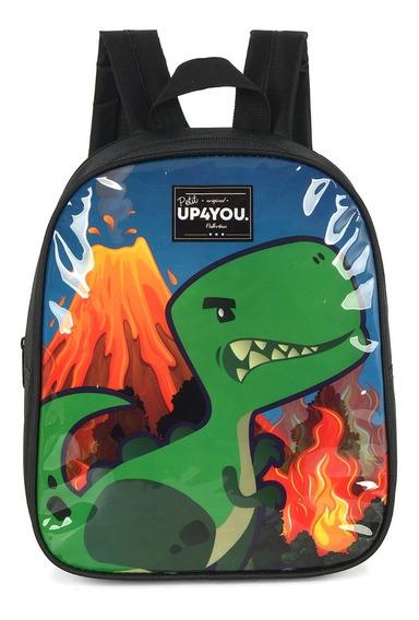 Mochila Infantil Dinossauro Petit Up4you Preta 33814
